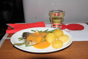 Virgin East Coast first class food