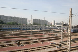 部屋から見えた北京駅