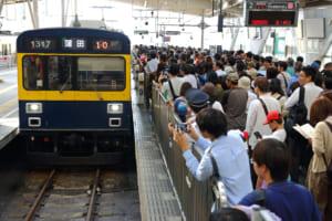 混雑する蒲田駅