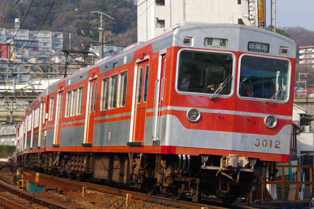 神戸電鉄3000形 撮影者:PASSENGER