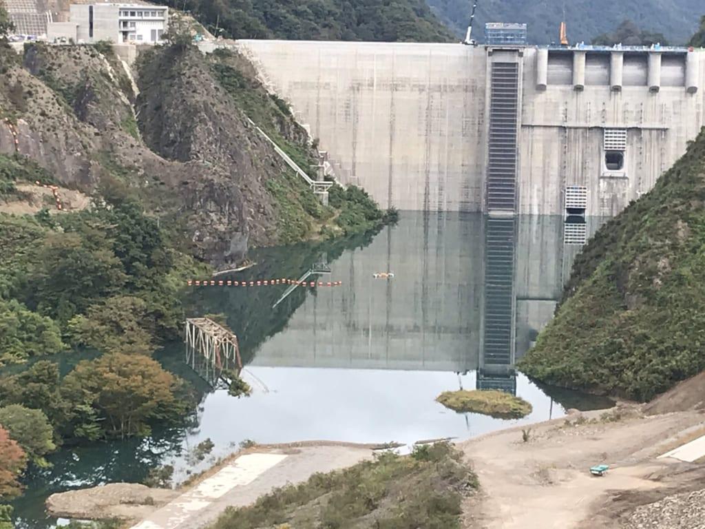 第二吾妻川橋梁と八ッ場ダム